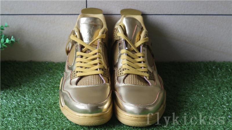 best sneakers a9d81 1297d Authentic Air Jordan 4 Retro Gold Custom