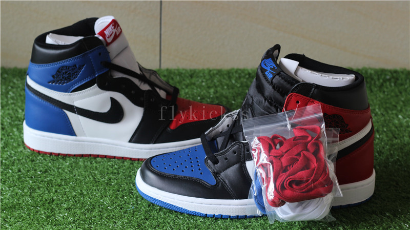 nike air jordan 1 blue white and red