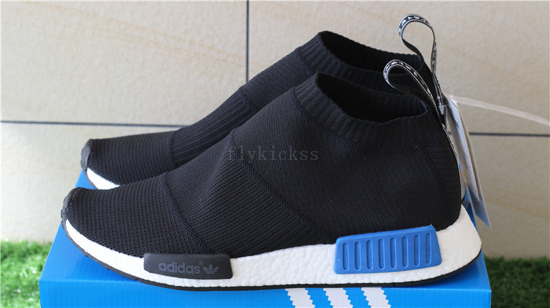 6d46ebb17b054 Adidas NMD City Sock Primeknit S79152 Black Blue   www.flykickss.net ...