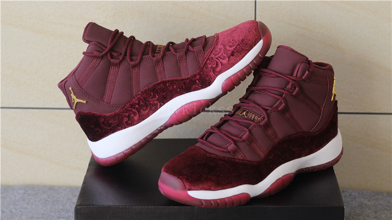 Authentic Air Jordan 11 GS Night Maroon