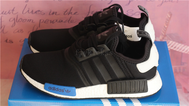 5119e3252d979 Real Boost Adidas NMD R1 PK Black and Blue   www.flykickss.net ...