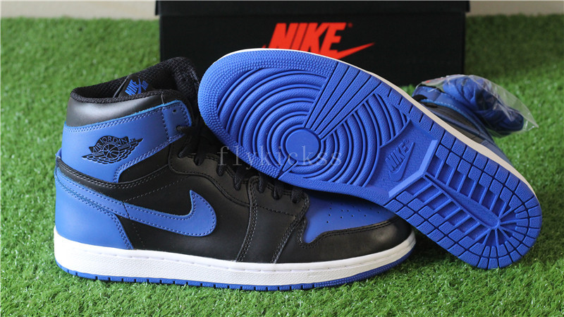 Authentic Air Jordan 1 OG High Royal Black Blue
