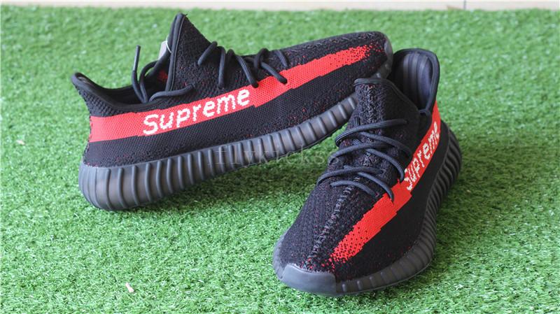 62e3964fae0f7 2017 Supreme x Adidas Yeezy Boost 350 V2 Black   www.flykickss.net ...