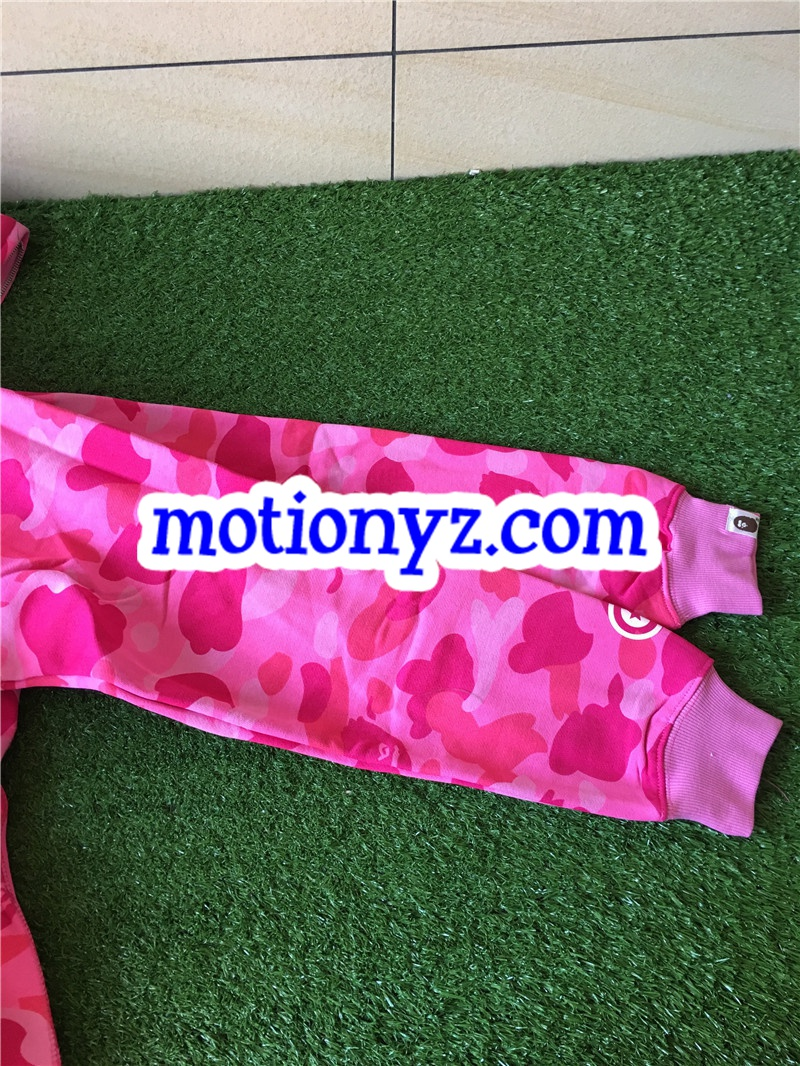 A Bathing Ape Clothing Bape Shark Hoodies Camo Pink