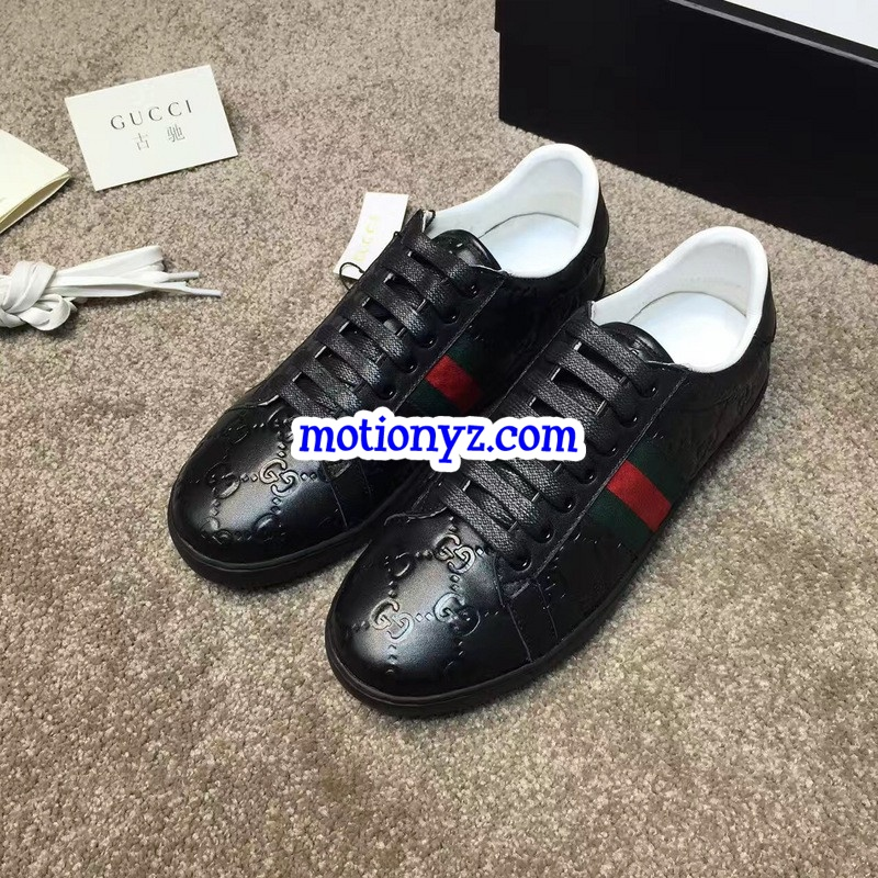 a3d3cb6baf3 GC Ace Embroidered Sneaker Low Top All Black   www.flykickss.net ...