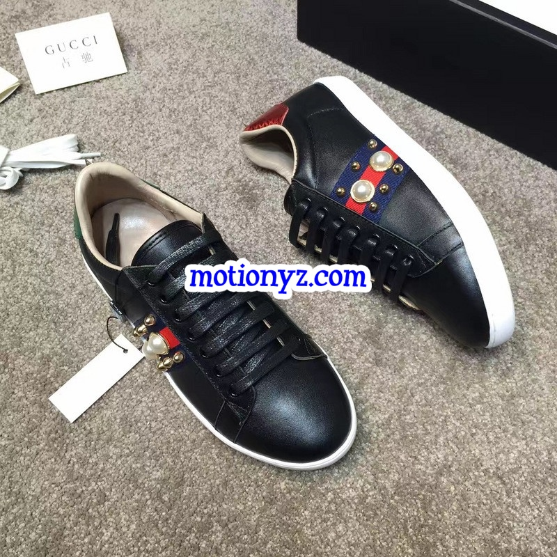 295168872e8 GC Ace Embroidered Sneaker Low Top Black Pearl   www.flykickss.net ...