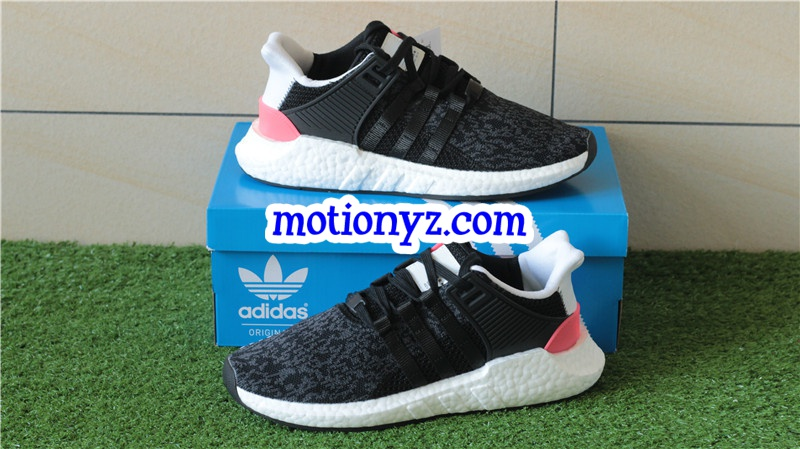 online store cb38f 972af Real Boost Adidas EQT Support 93 17 Boost Black Previous