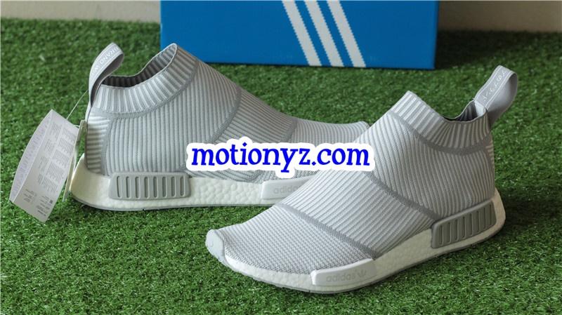 cf81b1328319e Real Boost Adidas NMD City Sock Primeknit Light Grey   www.flykickss ...