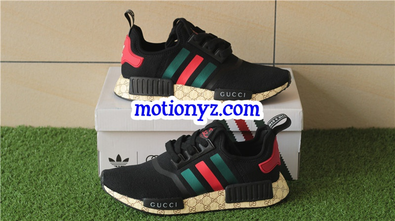 e4eabc98b26 Real Boost Adidas NMD Custom GC Black   www.flykickss.net