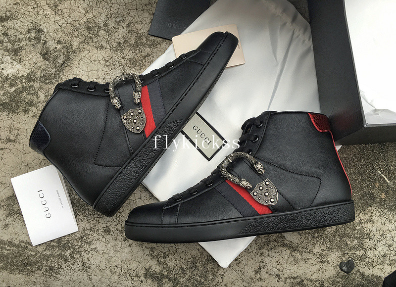 GC Ace Embroidered Sneaker High Top Black