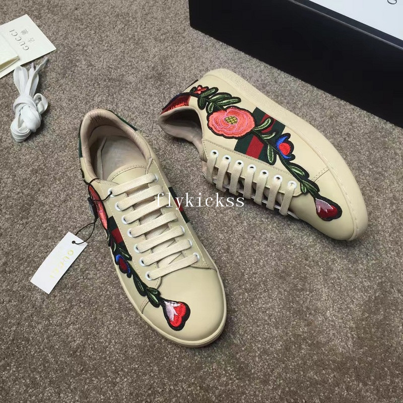 GC Ace Embroidered Sneaker Light Yellow Flower
