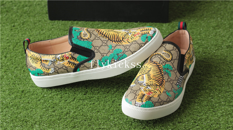 GC Brand Sneaker Low Top Tiger Pattern