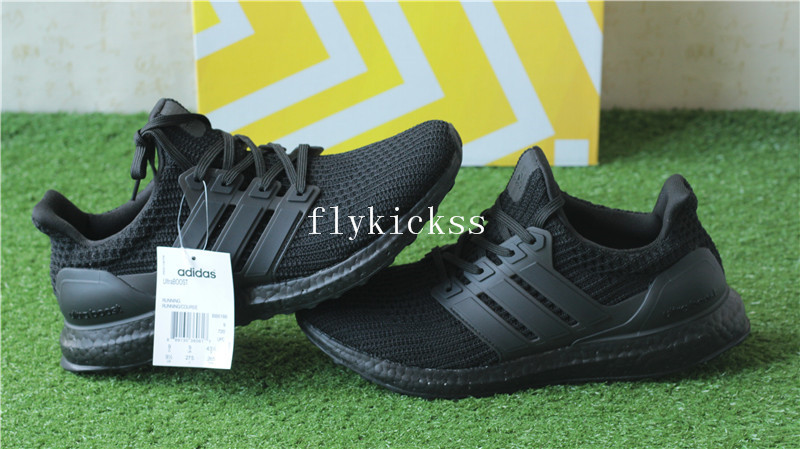 ab72588fa Real Boost Adidas Ultra Boost 4.0 Triple Black BB6166   www ...