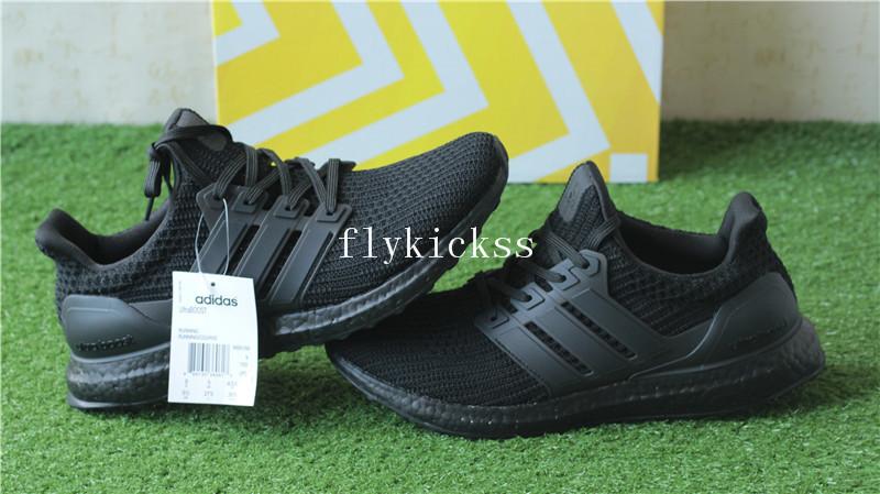 aa99edb4f8f24 Real Boost Adidas Ultra Boost 4.0 Triple Black BB6166   www ...