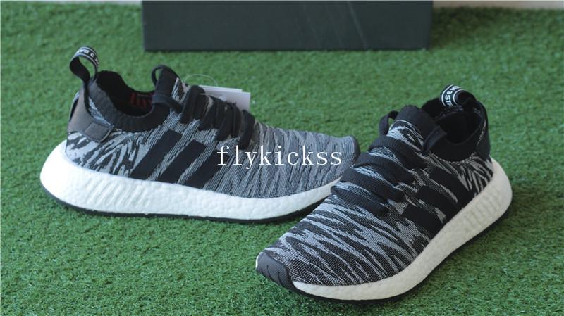 640fb02e2 Adidas NMD R2 Primeknit Black Glitch BY9409   www.flykickss.net ...