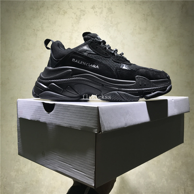 Balenciaga 2017 Fall Winter Triple-S Sneakers All Black