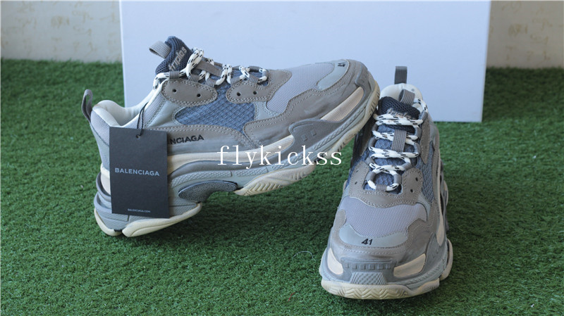 Balenciaga 2017 Fall Winter Washed Old Show Sneaker Grey