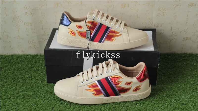 GC Ace Embroidered Beige Flame