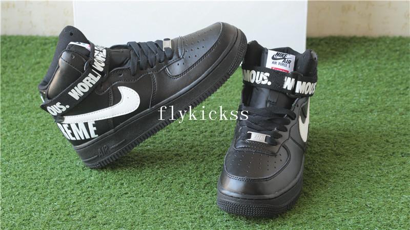 on sale e7867 9c27a Nike Air Force 1 High Supreme SP Black White