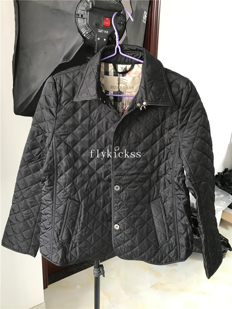 Burberry Winter Coats Women Black Ladies Jackets Overcoats