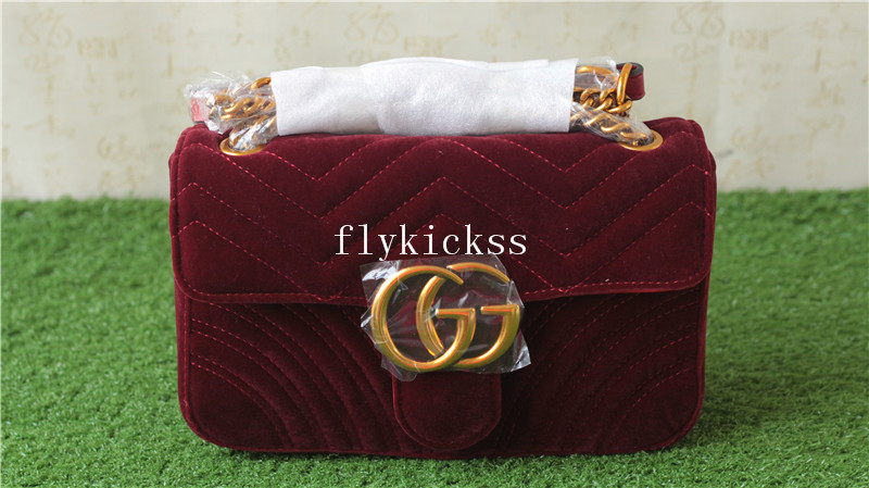 GC Shoulder Bag Red Wine