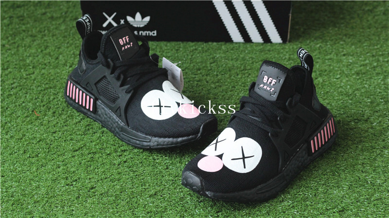 sneakers for cheap e33be f9e70 Kaws BFF X Real Boost Adidas NMD XR1 W Black