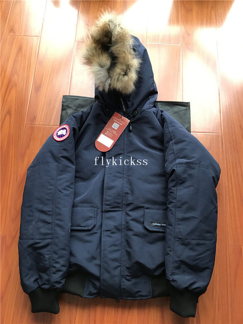 Winter Canada Goose Coat Navy Blue