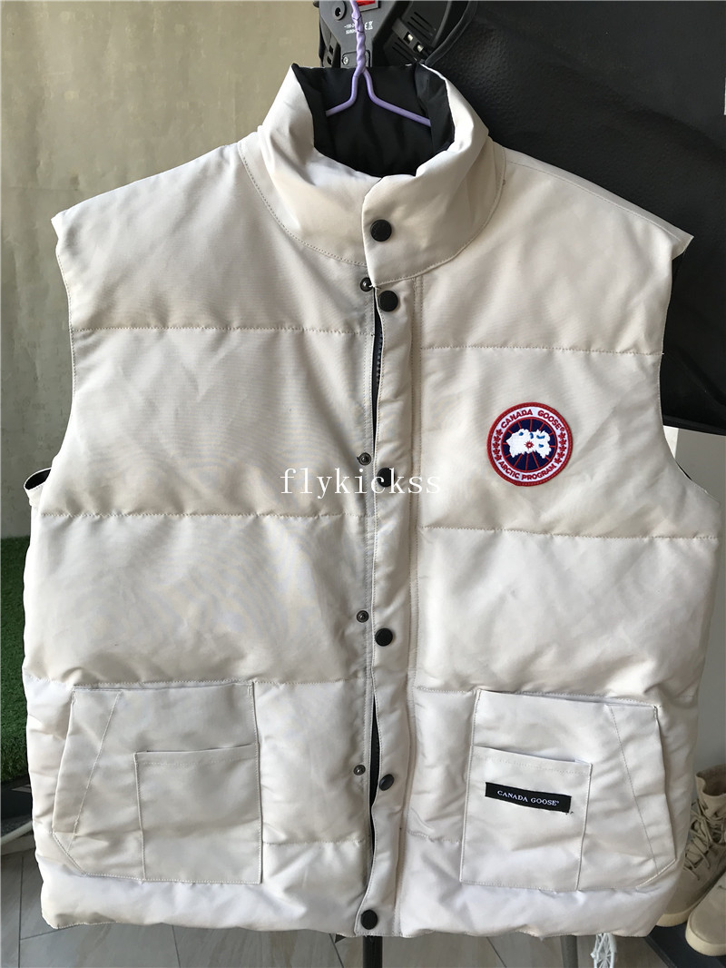 Canada Goose Cream White Freestyle Vest Jacket