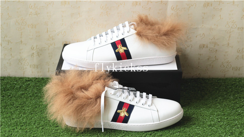 GC Ace Embroidered Bee Fur-Lined Sneaker