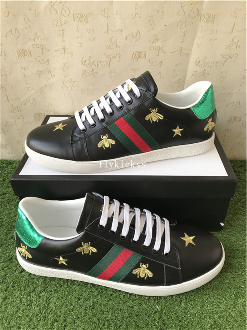 71f4293b8bf GC Ace Embroidered Sneaker Black Bee