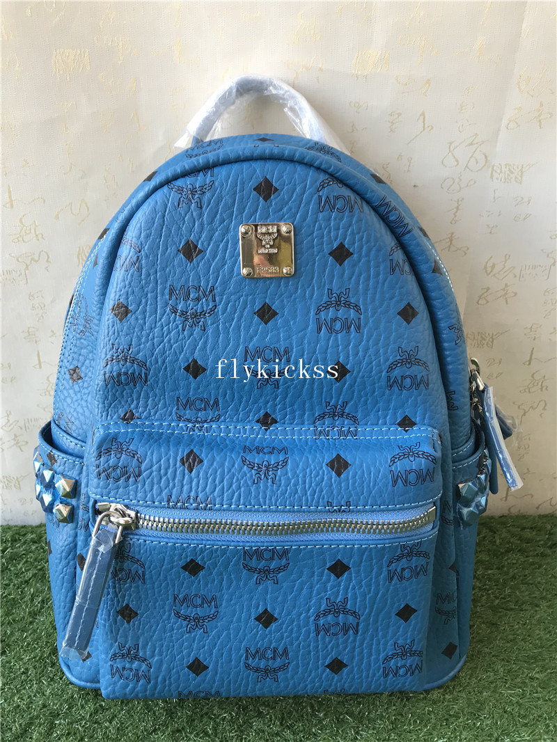 MCM Blue Backpack