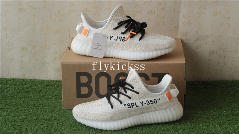 a7f4f7dd6 Off White x Adidas Yeezy boost 350 V2 Cream Beige