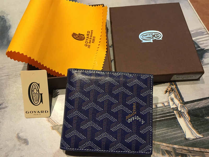 Goyard Blue Billfold Wallet