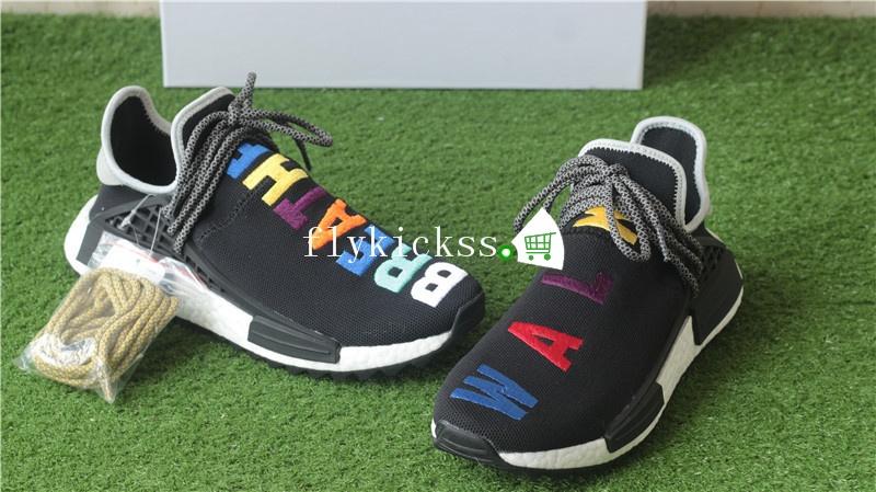 055118ccc75c2 Pharrell Williams x Adidas NMD Human Race BREATHE WALK Black Colorful