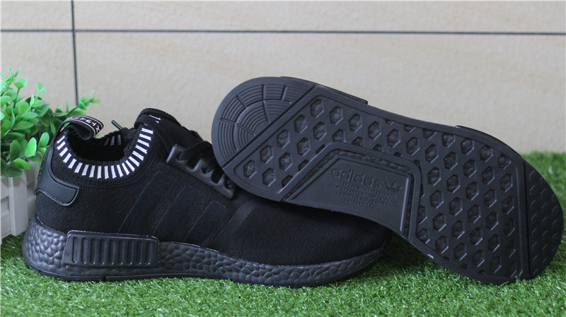 Adidas NMD R1 Primeknit Blackout Triple Black
