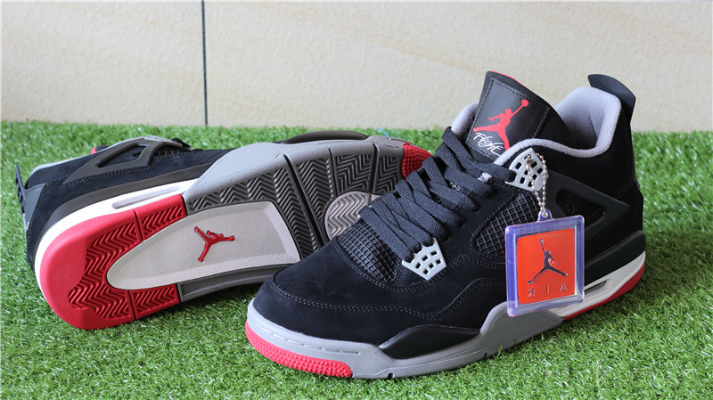 2016 Authentic Air Jordan 4 Retro Black Cement
