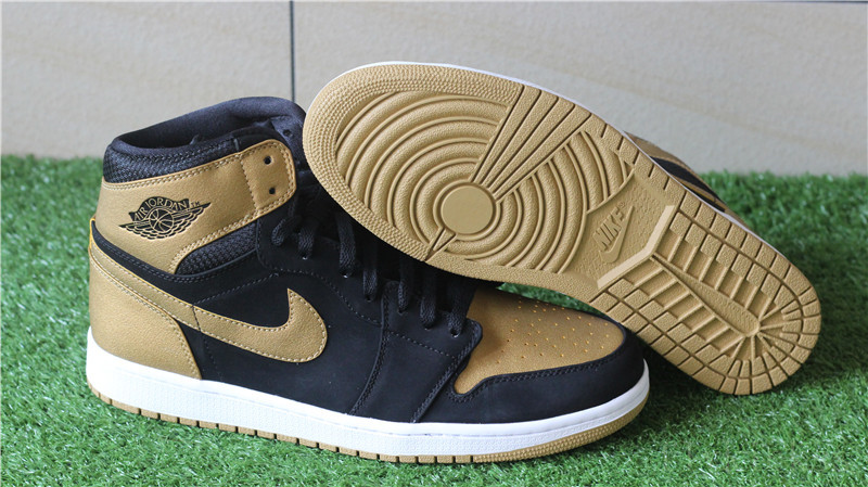 Air Jordan 1 I Retro High OG Black Gold Metallic