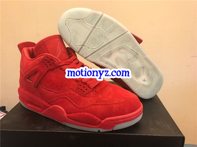 Authentic Red Drapes Kaws x Air Jordan 4