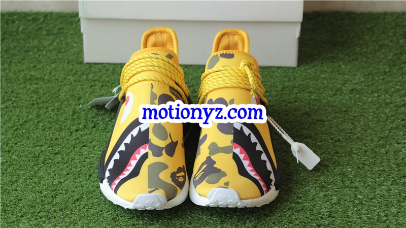 Adidas Pharrell Williams NMD Human Race Camo Bape Yellow