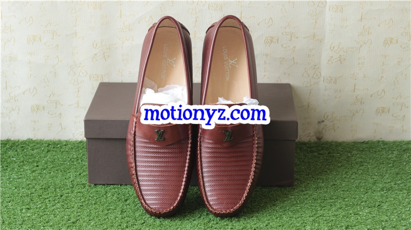 Men Brand Leather Shoes Brown