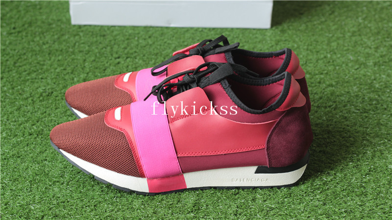 Balenciaga Race Runner Trainers Red Pink