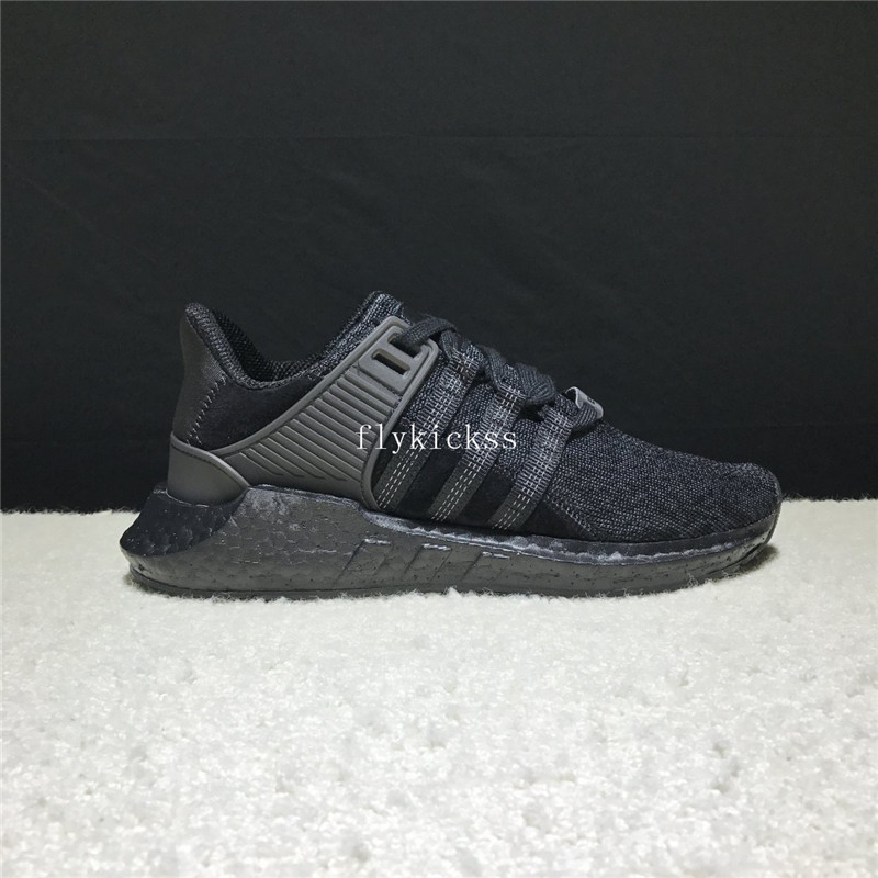 Real Boost Adidas EQT Support Pure Black