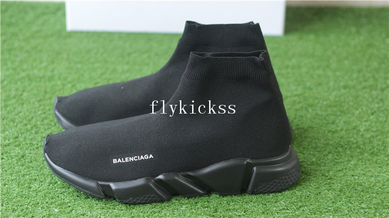 Best Quality Balenciaga Speed Trainer Sock Race Runners Triple Black