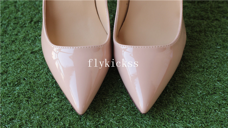 Christian Louboutin High Heels Nude Patent Women