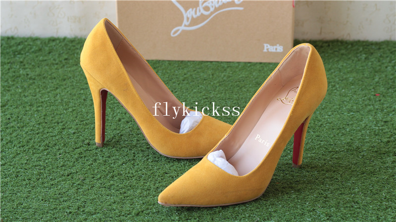 Christian Louboutin High Heels Yellow