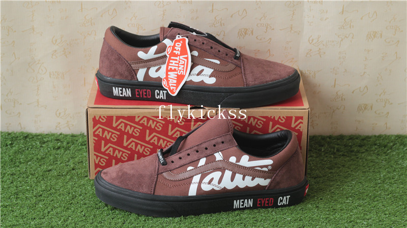 Patta x Van Mean Eyed Cat Old Skool Black Brown Suede