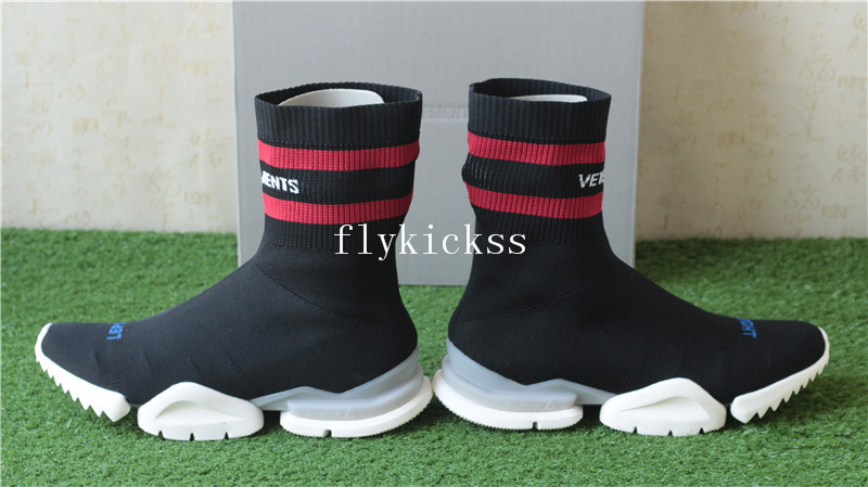 Vetement x Reebok Sock Trainer Dropping Black Red