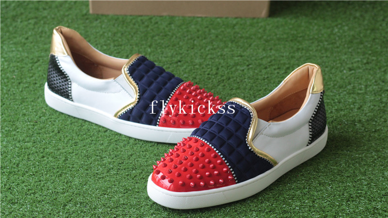 Christian Louboutin Sneaker Low Top Red Blue White