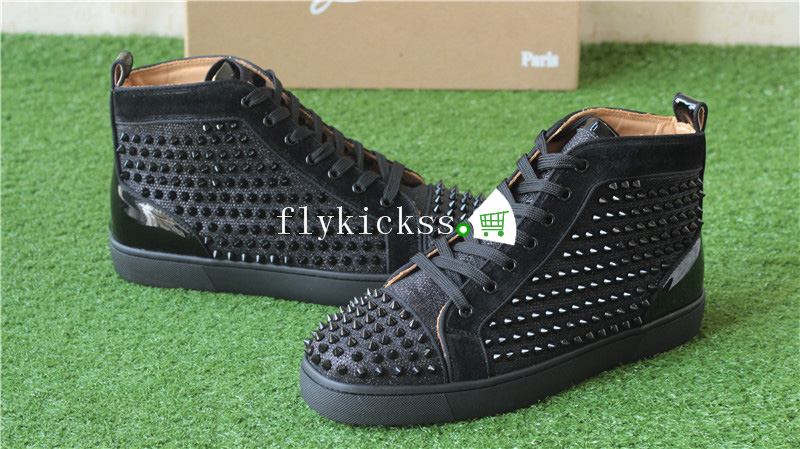 Christian Louboutin Flat Spikes Sneaker High Top