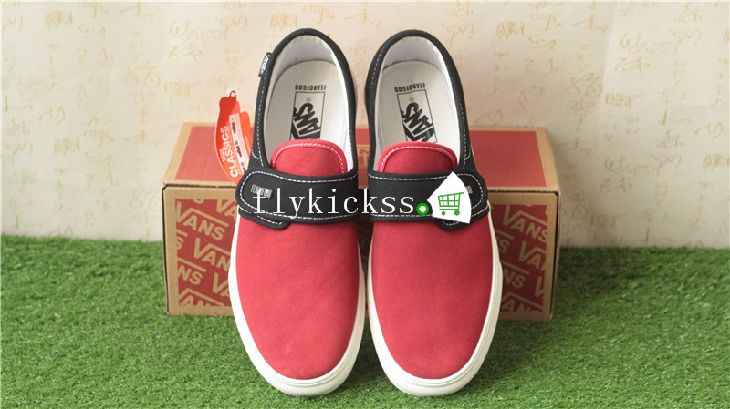 Fear of God x Vans Slip-On VN0A3MQ5NP4H Red